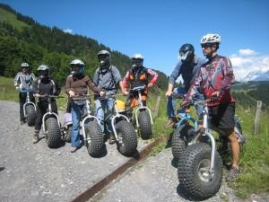 Bikes de descente au col des Aravis