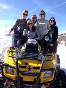 la clusaz quad sur neige