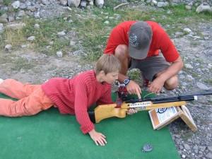 tir biathlon enfant la clusaz